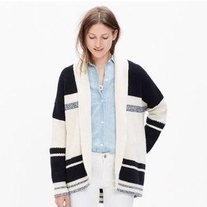 Madewell striped cocoon cardigan